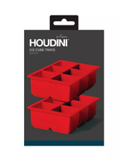 Houdini Ice Cube Mold Set of 2 Red Silicon NEW