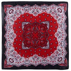 100% Coton Rouge Noir Cachemire Coton Bandana Écharpe, Bouche Couvrant