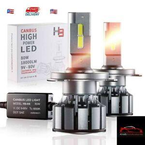 (H13/9008) Canbus LED Headlight Bulbs 18000LM Car Truck  High Power Kit