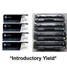 4-PK Genuine HP 201A CF400A CF401A CF402A CF403A Introductory Toner Cartridge