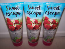 3 Sweet Escape Strawberry Picnic 24 Hour Moisture Ultra Shea Body Cream 8 oz