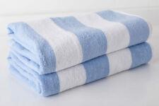 Blue & White Stripe Luxury 100% Egyptian Cotton Chlorine Resistant Pool Towel