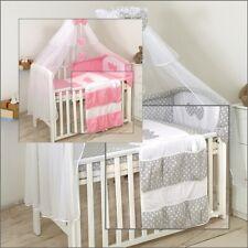 11 tlg Babybettwäsche BabyBett 120x60, 140x70 cm Himmelset Nestchen Decke