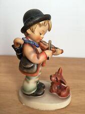 "New ListingVintage Goebel Hummel #1 ""Puppy Love"" 5 in Figurine Boy Plays Violin & Dog"
