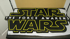 2 Starwars Cardboard signs for movie release DVD