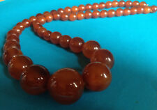 Vintage Long Collier Bakélite Perles Ambre / Bakelite Necklace