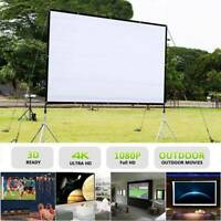 Portable Projector Screen 120 in Home Outdoor Camping 3D HD 16:9 Cinema Theater