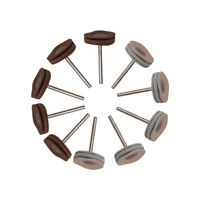 """10Pcs 1"""" Soft Leather Polishing Buffing Wheel Pads for Table Drill 1/8"""" Shank"""