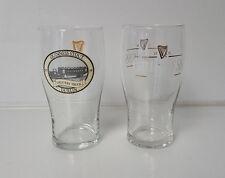 Guinness Beer Pint Glasses lot of 2 Stout Dublin Draught Man Cave Bar