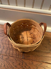 New ListingLongaberger Small Round Basket 2002