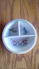 Vintage Stoneware Ceramic Three Section Baby Plate/Dish Three Little Pigs