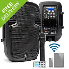 """Skytec 10"""" Active Bluetooth PA Speaker System Gym Wireless Microphone DJ 400W"""