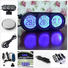 Car Mini Dashboard LED Backlight Digital Display Temperature Thermometer&Clock