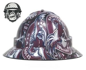 Custom Hydrographic Safety Hard Hat Mining Industrial PPE - MANLY WIDE