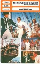 FICHE CINEMA : LES REVOLTES DU BOUNTY - Brando,Howard 1961 Mutiny on the Bounty