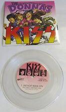 Kiss / The Donnas split  Strutter / Detroit Rock City 7'' Clear Vinyl Record