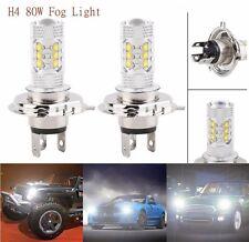 2Pcs H4 80W HB2 CREE Projector Lens Fog Driving Light Hi/Lo Beam Headlight Bulbs