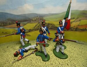 Superbly painted  CTS 1/32 scale Alamo Mexican Infantry + command x6 (Set 2)