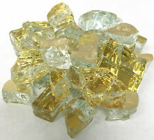 "10 LBS 1/2"" GOLDRUSH REFL. FireGlass Fireplace,Fire Pit Glass Rocks Crystals"