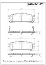 Disc Brake Pad Set-CERAMIC PADS Rear Dash 4 Brake CD471
