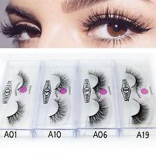 LASGOOS 3D Mink False Eyelashes Long Thick Natural Fake Eye Lashes 4 Pairs/Set