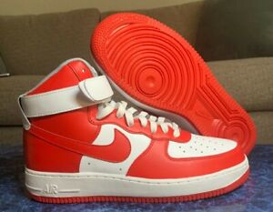 Size 9.5 - NEW Nike by You ID Air Force 1 AF1 High Top AQ3771-994 Red & White