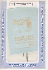 Microscale Decal N  #60-998 Soo Line Trailers 1955-63
