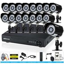 KKmoon 16CH Channel AHD CCTV DVR 1080N/720P 1500TVL Camera Security System Kit