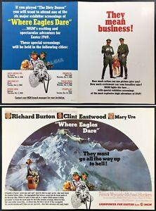 WHERE EAGLES DARE__Original 1968 Trade AD / exhibitor promo / poster__Eastwood