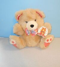 "12"" Dan Dee Soft Expressions Teddy Precious Jr Cream & Peach Paw Bear Plush"