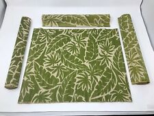4pcs Bamboo Placemats Rectangle Dining Table Oriental - Green Leaf Design
