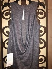 NWT $58 Lululemon LOW KEY TANK *SILVER HBLK 4 Authentic