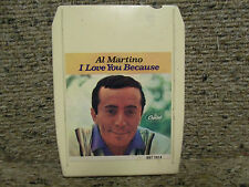 Al Martino I Love You Because, 8 Track cartridge, Capitol