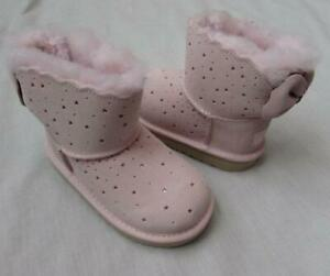 UGG toddler 7 8 9 Mini Bailey Bow II starry lite seashell pink boots new