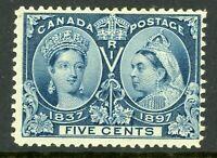 Canada 1897 Jubilee 5¢ Scott # 54 Mint C11