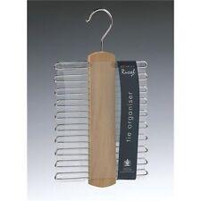 Russel Storage Tie Organiser Chrome Wood Holds 20 Ties - X99