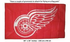 Free Ship to USA NEW DETROIT RED WINGS LOGO NHL 3x5 Feet  FLAG BANNER sign