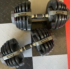 PAIR of Bowflex SelectTech 552 Adjustable Dumbbells Weights up to 52.5lbs Each