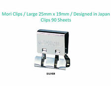 5* CARL Large Silver Mori Clips Fastening 90 pages Paper Clips Designed in Japan