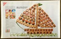 1968 Nabisco Crackers & Snack Mate Cheese Print Ad Make a Nabisco Party Boat 2pg