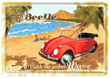 VW Beetle Surf Coast Tin Sign 10x14 cm Sheet map 10205 Sign