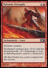 Volcanic Strength X4 EX/NM M11 MTG Magic Cards Red Common