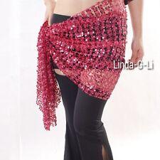 Belly Dance Costume Sequin Hip Scarf Belt  Wrap 9 colors 5/2