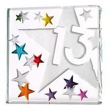 Spaceform Miniature Glass Token Thirteenth 13th Thirteen Birthday Gift 1771