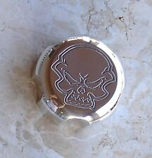 "RZR XP & XP 4 1000 POLISHED BILLET ALUMINUM GAS CAP ENGRAVED ""SKULL"" MADE IN USA"