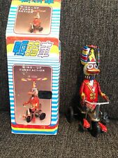 Vintage Duck on Bike Tin Wind-Up Toy Beijing No.1 Toy Factory China Original Box