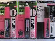 Maybelline Great Lash Mascara #251 Very Black Real Impact Lot of 3