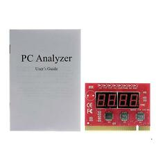 Red Computer Motherboard LED 4 Digit Analysis Diagnostic Test POST Card PCI PC