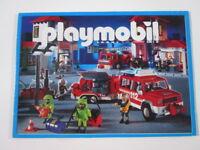 "PLAYMOBIL- ""DIFICIL CATALOGO MEDIANO AÑO 2002 - ESCENA BOMBEROS"" -LUJO!"
