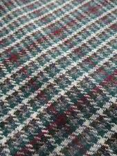 Scottish Tweed Pure New Wool Fabric- Estate Check- 300 x 150 cm